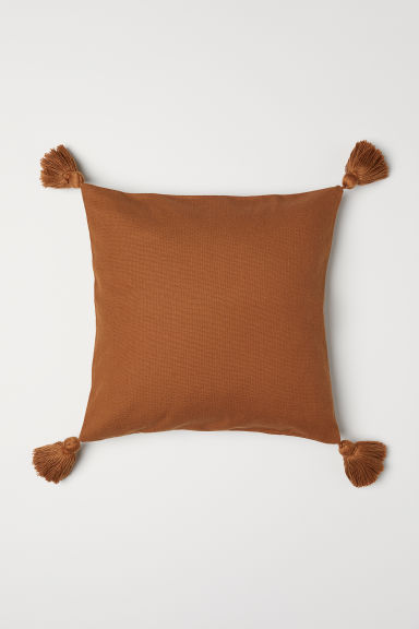 Tasselled cushion cover - Light brown - Home All | H&M CN