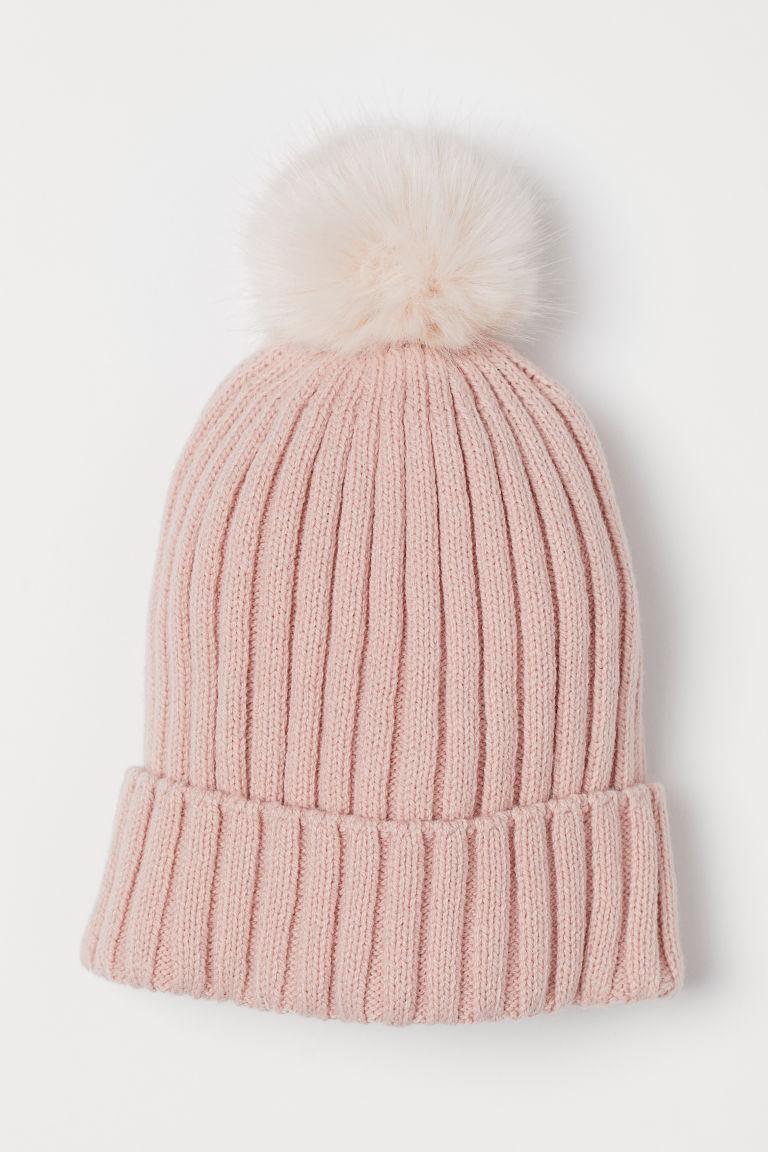 Ribbed hat - Powder pink - Kids | H&M GB