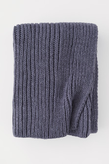 Rib-knit Throw