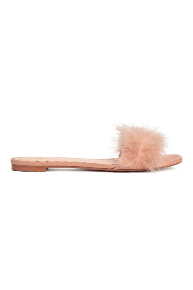 Mules - Powder pink - Ladies | H&M