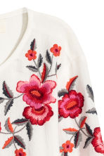 Embroidered blouse - White - Ladies | H&M CN 3