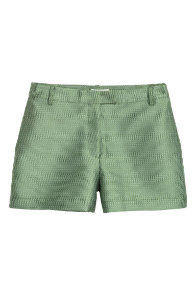 Jacquard-patterned shorts - Green - Ladies | H&M