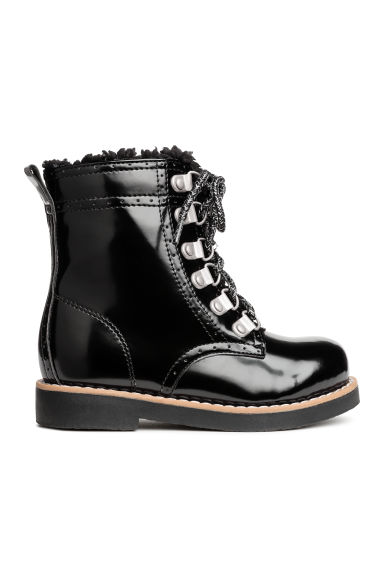 Pile-lined boots - Black - Kids | H&M CN