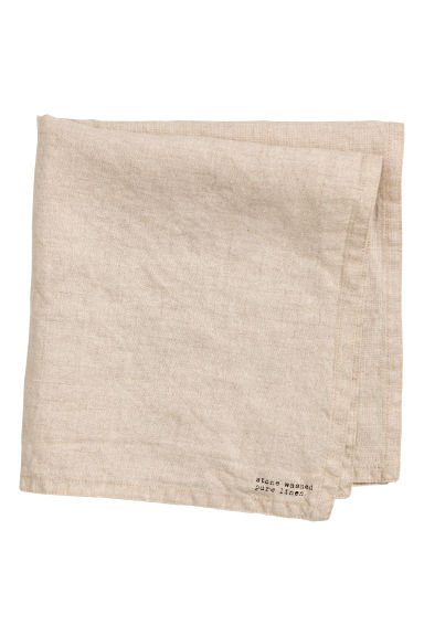 Washed linen napkin - Beige - Home All | H&M CN