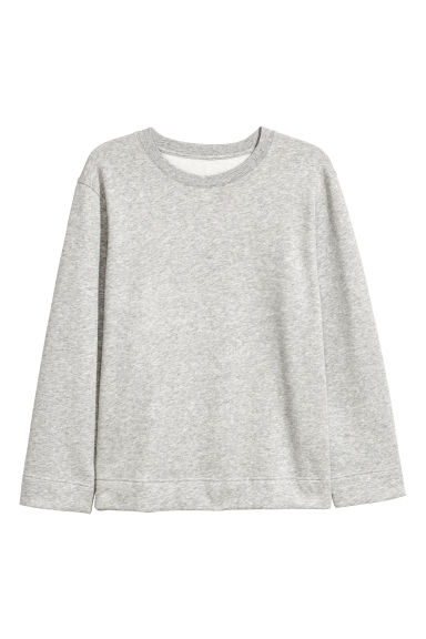H&M+ Sweatshirt with slits - Light grey marl - Ladies | H&M