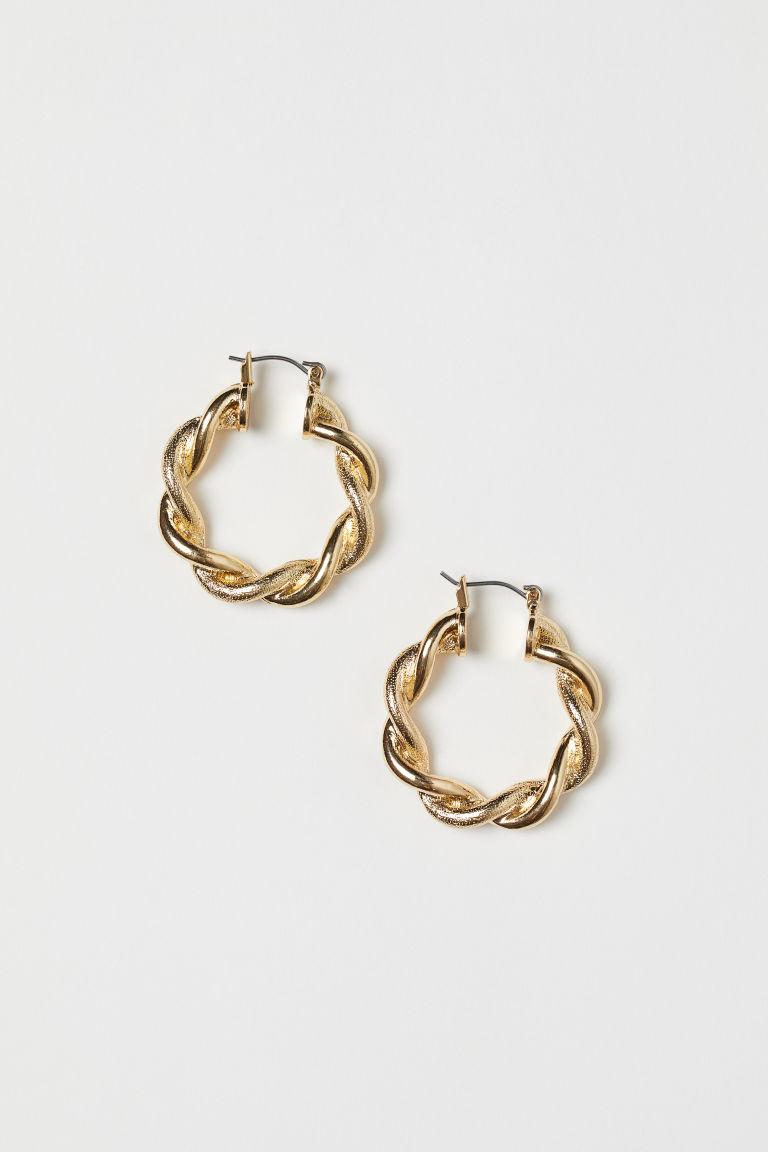 Hoop earrings - Gold-coloured - Ladies | H&M GB
