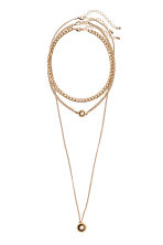 3-pack necklaces - Gold-coloured - Ladies | H&M GB 1