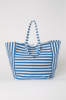 Cotton twill beach bag