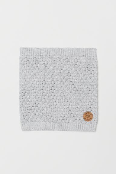 Knitted tube scarf - Light grey marl - Kids   H&M GB