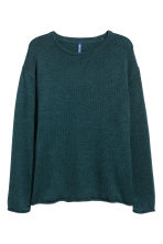 Knitted jumper - Dark petrol - Men | H&M 2