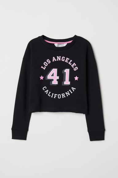 Sweat avec impression - Noir/Los Angeles - ENFANT | H&M CH
