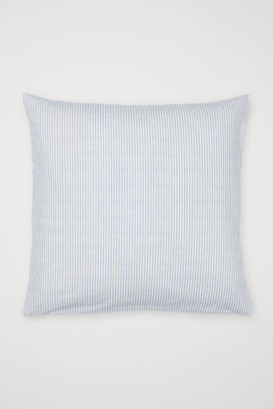 Striped cushion cover - White/Blue striped - Home All | H&M CN