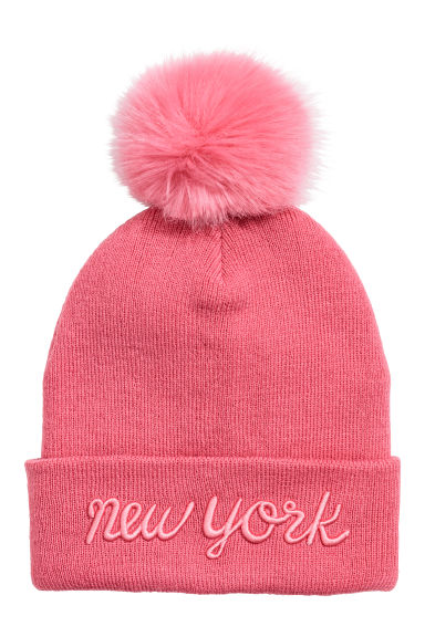 Fine-knit hat - Pink - Kids | H&M IE
