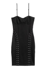 Fitted jersey dress - Black - Ladies | H&M IE 2