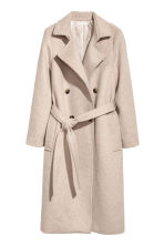 Double-breasted coat - Light beige - Ladies | H&M 1