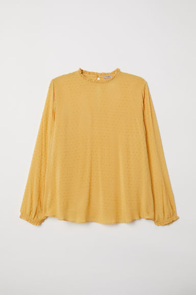 H&M+ Plumeti blouse - Mustard yellow - Ladies | H&M