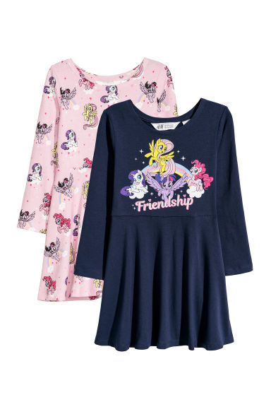 Robes en jersey, lot de 2 - Rose/My Little Pony -  | H&M BE