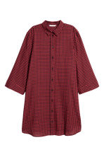 Patterned dress - Red/Black checked - Ladies | H&M IE 2