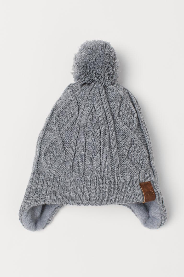 Fleece-lined hat - Grey marl - Kids | H&M GB