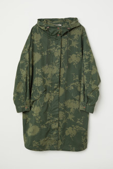 H&M+ Patterned Cotton Parka