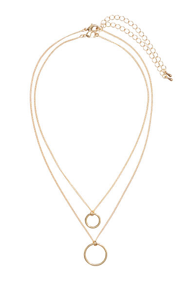 Necklace with a pendant - Gold-coloured - Ladies | H&M