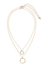 Necklace with a pendant - Gold-coloured - Ladies | H&M CN 1