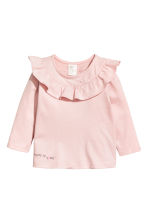 Flounced top - Powder pink - Kids | H&M CN 1