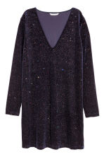 Glittery dress - Navy blue/Glitter - Ladies | H&M IE 2