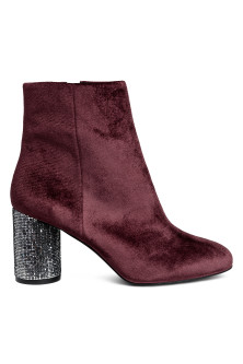Boots with glittery heels