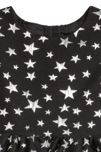 Jacquard-weave dress - Black/Stars - Kids | H&M CN 3
