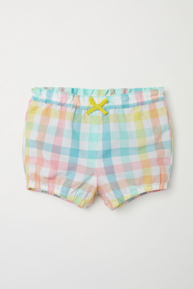 Cotton shorts - Light yellow/Multicoloured - Kids | H&M CN