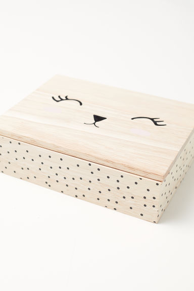 Wooden jewellery box - Natural white/Rabbit - Home All | H&M CN