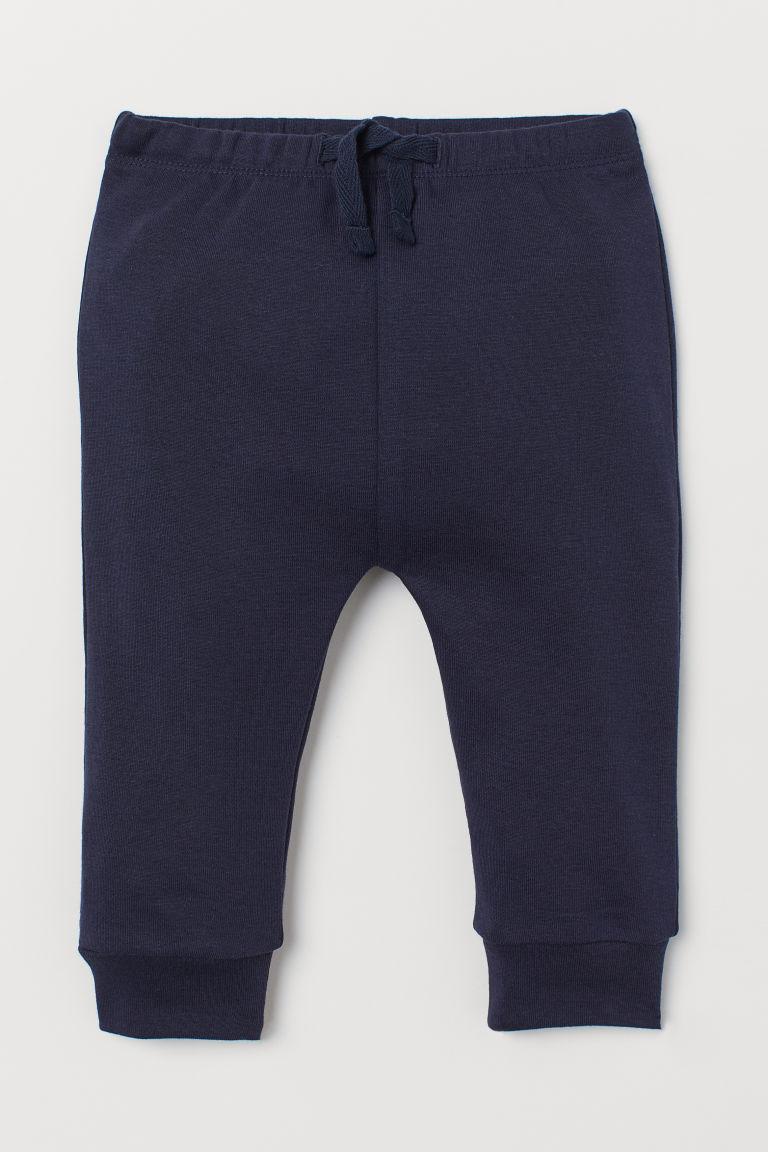 Cotton jersey trousers - Dark blue - Kids | H&M GB