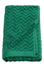 Jacquard-patterned bath towel - Dark green - Home All | H&M GB 1