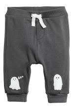 Cotton bodysuit and trousers - Light grey/Ghosts - Kids | H&M 3