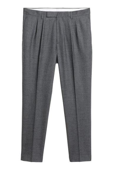 Pantalon de costume Slim fit - Gris foncé chiné -  | H&M FR