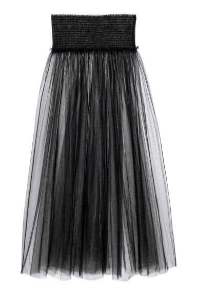 Transparent skirt - Black - Ladies | H&M