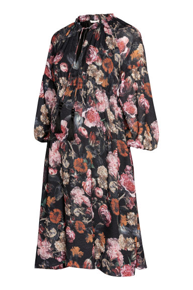 MAMA Dress - Black/Floral - Ladies | H&M GB