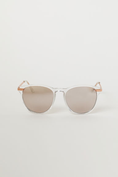 Sunglasses - Transparent/Rose gold-coloured - Ladies | H&M CN