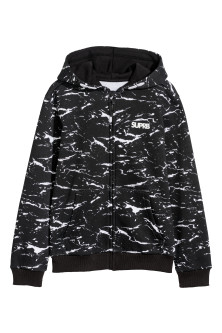 Patterned hooded jacket