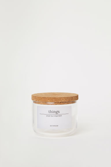 Small glass jar - Clear glass - Home All | H&M IE