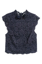 Lace top - Dark blue - Ladies | H&M 2