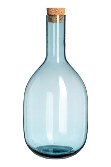 Glass carafe - Turquoise - Home All | H&M CN
