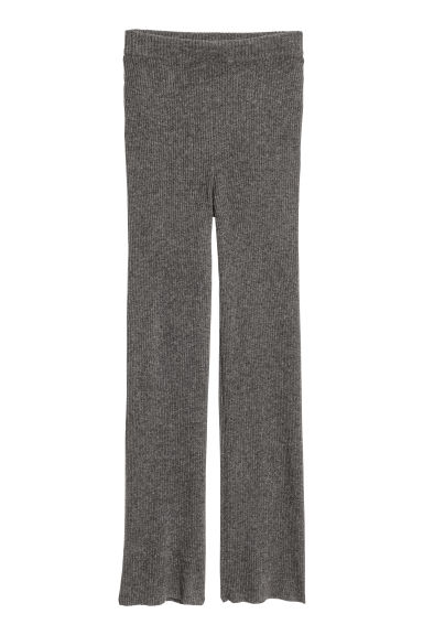 Pull-on cashmere trousers - Dark grey marl - Ladies | H&M IE