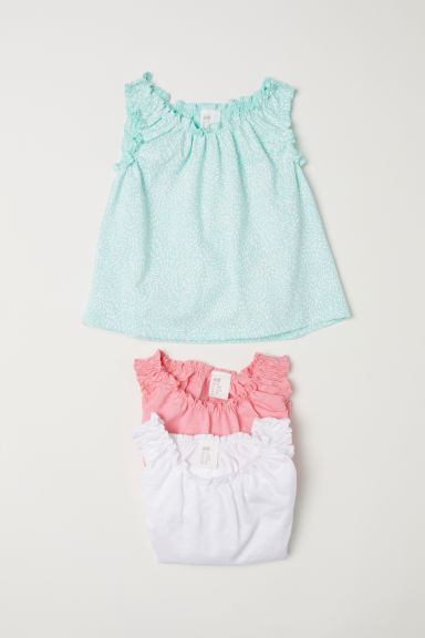 3-pack sleeveless tops - Light green/Patterned - Kids | H&M CN