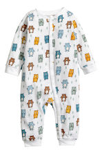 3-pack all-in-one pyjamas - White/Bears - Kids | H&M CN 2