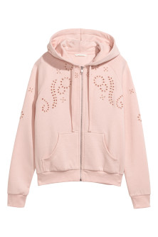 Hooded Jacket with Embroidery