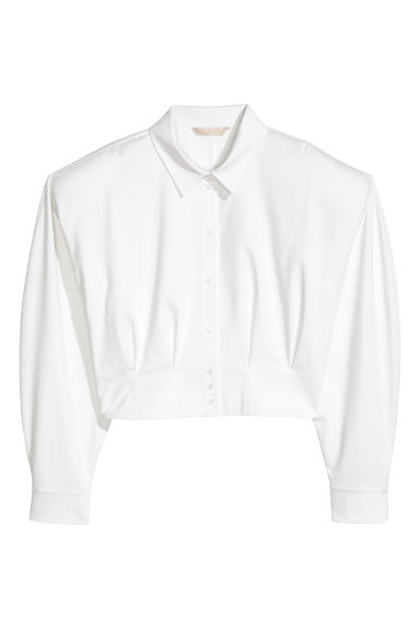 Short shirt - White - Ladies | H&M CN
