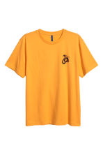 Printed T-shirt - Bright yellow/Snake - Men | H&M CN 2