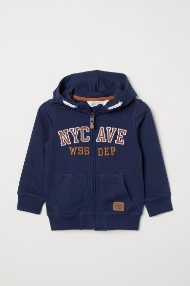 Hooded jacket - Dark blue - Kids | H&M GB